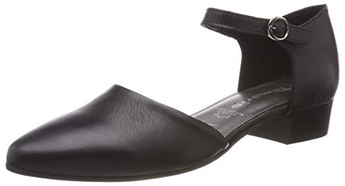 Tamaris Damen 1-1-24210-22 Slipper, Schwarz (Black Leather 3), 38 EU -