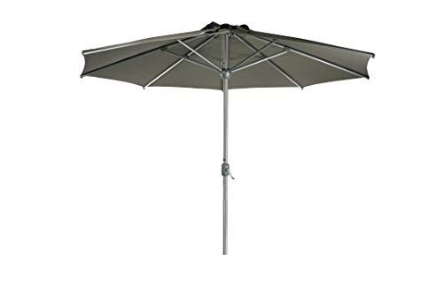 Sonnenschirm Parasol | Taupe Braun Grau | Ø 300 cm / 3m | Rund | SORARA | Apple | Mastdurchmesser...