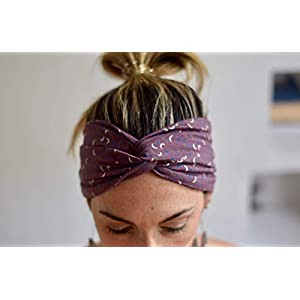Moon Lila Stirnband Turban Haarband für dame