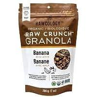 Rawcology | Granola banana croccante biologico | Senza zuccheri aggiunti, senza glutine, chetogenico, paleo, raw