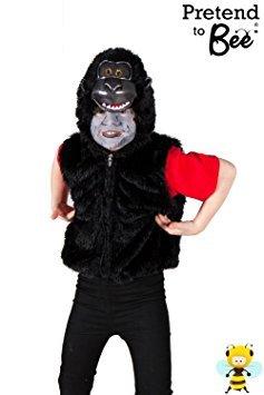 Gorilla Zip Top - Kids Costume