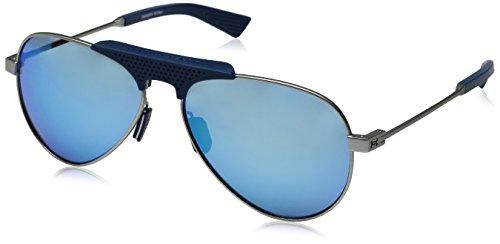 Under Armour Ua Getaway Aviator Sunglasses, Silver/ Blue, 58 mm