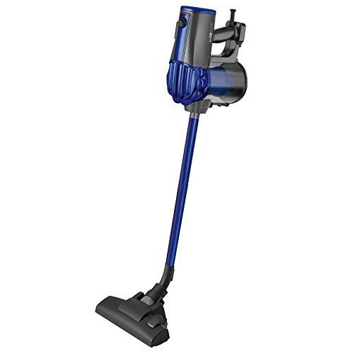 Clatronic BS 1306 Hand-/Bodenstaubsauger 2in1 beutellos, Hepa-Filter, Wandhalterung, anthrazit-blau