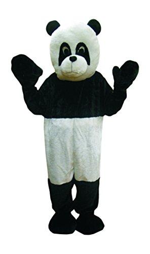 Dress Up America Süßes Panda Bär Maskottchen Schwarz -