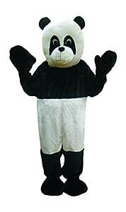 Dress up America Traje de Blanco y Negro de la Mascotaa del Oso Panda Dulce