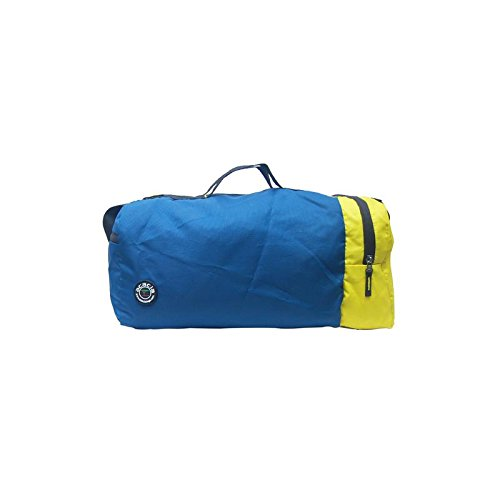 "Acacia Over Nighter 10""inches Blue With Yellow Luggage Bag"