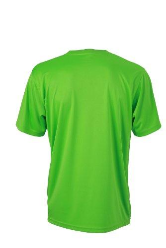 James & Nicholson Herren Langarmshirt Funktions T-Shirt Mens Active Lime/Green