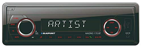 BLAUPUNKT Madrid 170 BT 230 MP3-Tuner Bluetooth 2.0 Front-USB & Aux-In SD-Karten Slot iPod/iPhone-Steuerung Freisprechen 4x 40W
