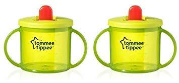 Primera taza Tommee Tippee, color verde (pack de 2)