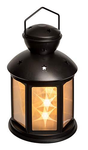 Idena 31336 - LED Laterne Stern schwarz, 2 Modi