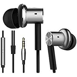 [Cable] Conjunto de auriculares y micrófono Xiaomi QTER01JY, MI Piston, originales, híbrido,intercomunicador, color plateado