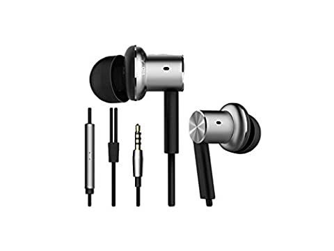 Original Xiaomi Hybrid Dual Drivers Earphones In-Ear Headphones Silver