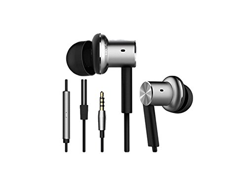 Original Xiaomi Mi qter01jy iron piston Hybrid - In-Ear Headphones with Microphone for iPhone in-Ear Remote and mic, silver colour