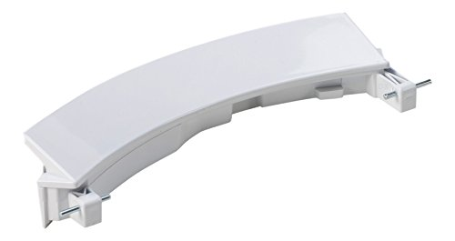 Con meccanismo a rotazione e Flex - lavabile in lavatrice/lavibili di macchina maniglia/Maniglia/finestra woodturn per diversi apparecchi Bosch/Siemens/Compatibile - adatto per condivido-Nr. 00751782/751782 Bianco Con 2 assi