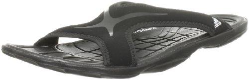 adidas Performance adiPure Slipper, Unisex-Erwachsene Dusch- & Badeschuhe, Schwarz (Black 1/Black 1/White), 40.5 EU (7 Erwachsene UK)