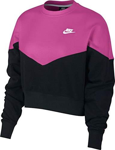 Nike Sportswear Wm´s Fleece Crew (Pink, XS) Fitness-fleece-pullover