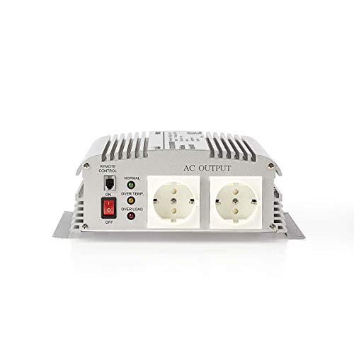 TronicXL Profi Wechselrichter 12V 230V 1000W Spannungswandler Steckdose Adapter Konverter Converter Strom für KFZ Auto umwandeln modifizierte Sinuswelle Batterieklemmen Autobatterie Batterie