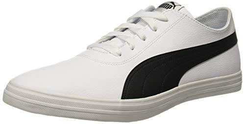 Puma Unisex White Black Sneakers - 6 UK/India (39 EU)(4059507898227)