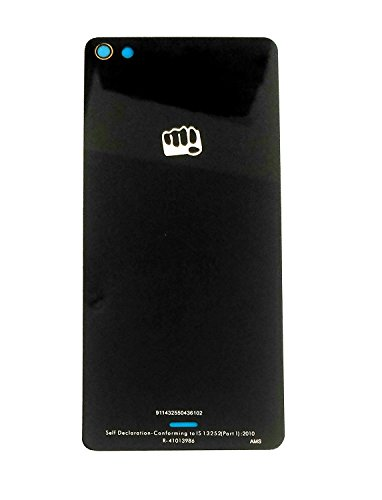 Arsh High Quality Replacement Battery Back Panel Glass for Micromax Canvas Sliver 5 Q450 (Black)