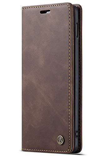 Handyhülle, Premium Leder Flip Schutzhülle Schlanke Brieftasche Hülle Flip Case Handytasche Lederhülle mit Kartenfach Etui Tasche Cover für Samsung Galaxy S10, S10 Plus, S10e - Fall, Dass 4 Wallet Iphone Männer
