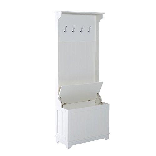 Homcom armadio guardaroba con contenitore e appendiabiti in legno mdf 73 x 34 x 180.5cm