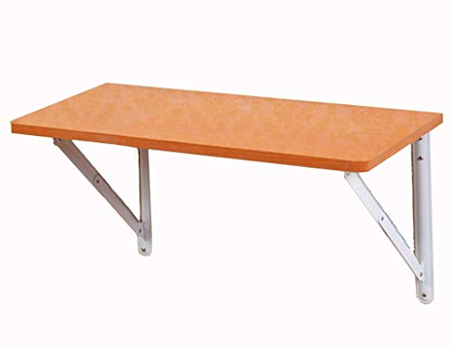 Stuhl Kirsche Schreibtisch (HJW Computertisch an Der Wand, Faltbarer Esstisch, Einfacher Schreibtisch, Holzfarbe, 60 * 30 cm)