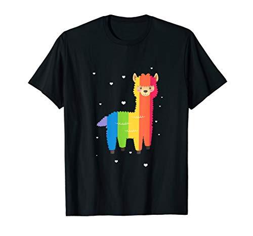 LGBT Homosexuell Lesbisch Regenbogen Lama T-Shirt