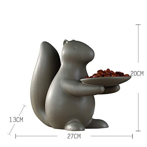PORCN Nordische Moderne minimalistische keramische Einrichtungsgegenstände trockene Obsttellerdekoration des Tischteetisches der kreativen Handwerkskunst, B