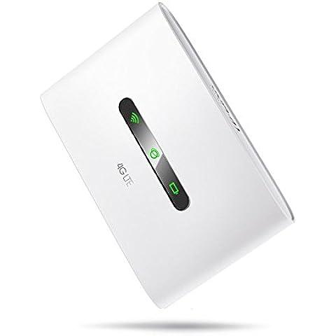 TP-LINK M7300 - Router 4G LTE para móvil (4G modem, 4G interno, SIM, 2000 mAh, MicroSD, LTE, 300 Mbps, 2.4 GHz, WiFi), blanco