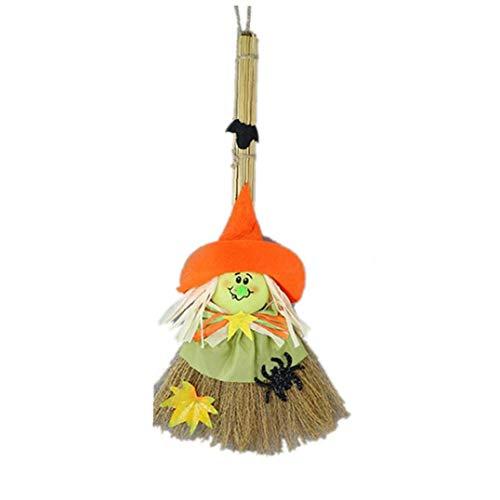 Jungen Kostüm Scarecrow - Zonfer Halloween Scarecrow Hängen Puppe Hexe Strohbesen Partei Kostüme Requisiten Geist-Festival-Dekoration