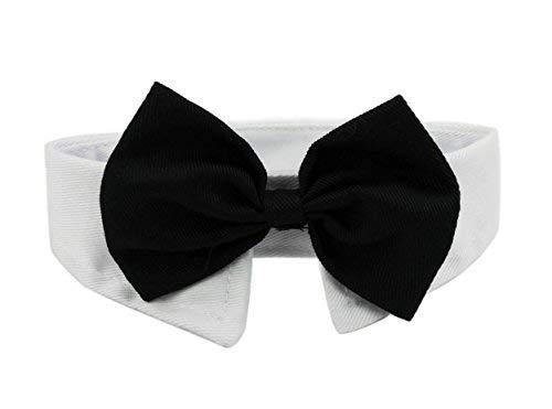 Ylen 2 Pezzi Cane Gatto Cravatta Formale Collare Cotone Animale Domestico Regolabile Papillon Bowknot per Nozze Partito