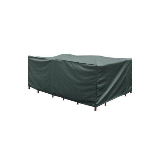 greemotion Schutzhülle für Gartentisch/Sitzgruppe grün, wasserabweisende Gartenmöbelabdeckung mit Zugband, Abdeckhaube aus...