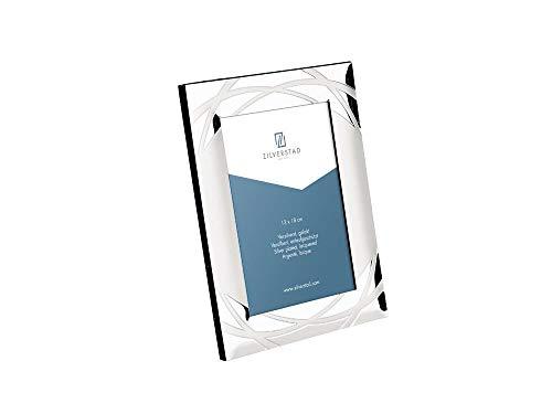 Zilverstad 7637233 - verona cornice per foto, lucida,  laccato argento, 13 x 18 cm