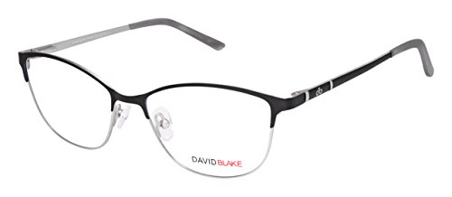 David Blake Semi-Rimless Cateye Women's Spectacle Frame - LCEWDB1145SRSR8060-C1 | 54 mm