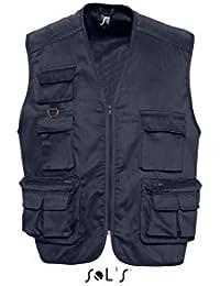SOL'S - gilet photographe reporter multipoches - veste légère sans manches BODYWARMER - 43630 - mixte homme femme