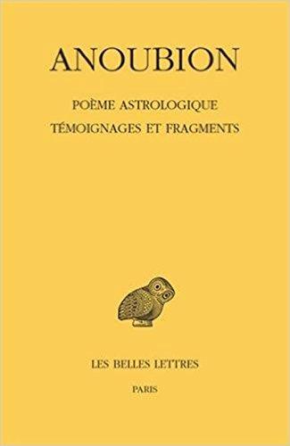 Poème astrologique. Témoignages et fragments