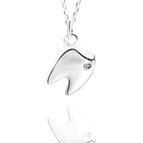 er Zahn Weisheit Zahn Silber Halskette Anhänger Zahn Fee Zahnarzt ()