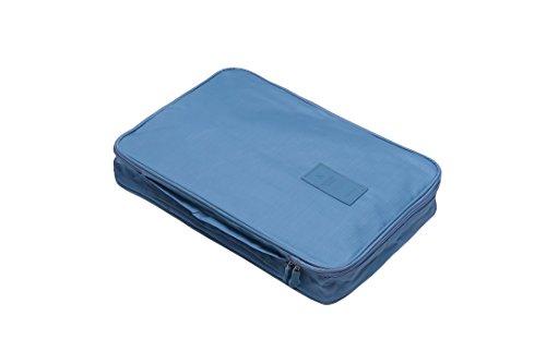 Diniwell Hemdentasche Reise für knitterfreie Hemden und Blusen   Kleidertasche inkl. Falthilfe   Tasche passend für Transport in Koffer oder Handgepäck, hellblau