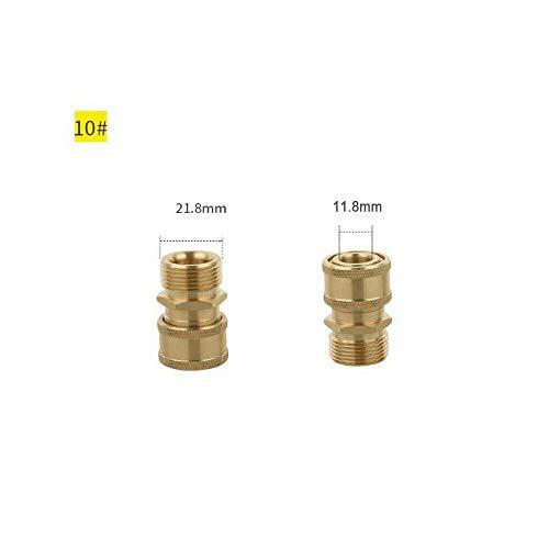 SENRISE Hochdruckreiniger-Adapter, 2 Stück, 1/4 Hochdruckreiniger, Kupplung, Adapter, Schnellentriegelung, Gartenschlauch, Auto Sprühpistole, Anschluss (1#-19#), gold
