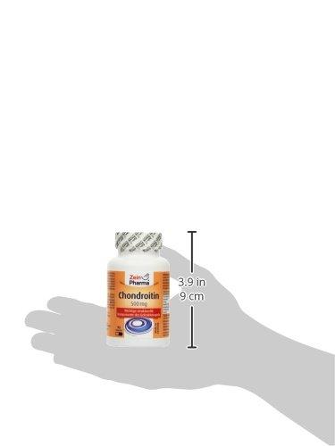 ZeinPharma Chondroitin 500 mg 90 Kapseln (6 Wochen Vorrat) Glutenfrei, koscher & halal Hergestellt in Deutschland, 59 g