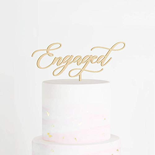 Engaged Cake Topper, Engagement Cake Topper, We're Engaged Cake Topper, Engagement Party Decor, Bridal Shower Cake Topper, Engaged (Decor Engagement Party)