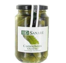 BIOSANARE CORNICHONS 180G Envoi Rapid Et Soignée - Produits Bio Agree Par AB - (Prix Par Unité)