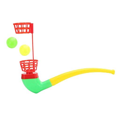 Los Niños De Juguete Tubo De Soplado Y Huevos
