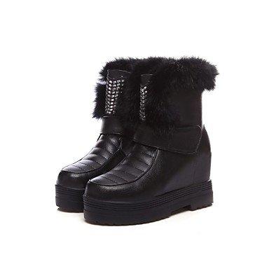 RTRY Scarpe Donna Materiale Personalizzato Inverno Pelliccia Sintetica Fodera Fluff Snow Boots Sella Stivali Stivali Moda Bootie Combattere Stivali Suole Di Luce US5 / EU35 / UK3 / CN34