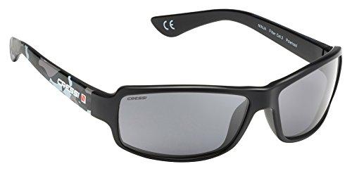 Cressi Ninja Gafas de Sol, Unisex Adulto, Negro/Verde Mimético/Gris Oscuro, Talla Única