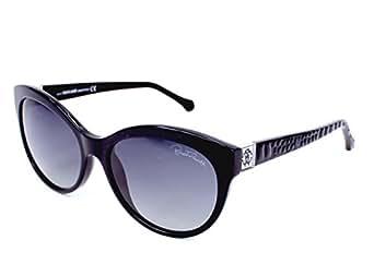 Roberto Cavalli Women's Rc798s Shiny Black Frame/Smoke Polarized Lens Plastic Sunglasses