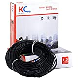KC-Cab PVC nsulated Wire 1.5 SQ/MM Single Core Flexible Copper Wires and Cables for Domestic/Industrial Electric | Home Electric Wire | 90 Mtr Coil |
