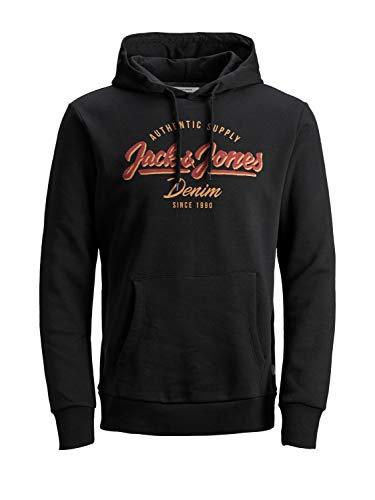 JACK & JONES NOS Herren JJELOGO Sweat Hood 2 COL 19/20 NOOS Kapuzenpullover, Black, XL