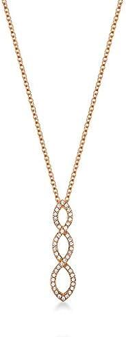 Mestige Women Glass Rose Gold Harmony Necklace with Swarovski Crystals