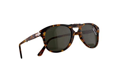 Persol 714-S Folding Sonnenbrille Madreterra Mit Grünen Gläsern 52mm 105231 PO0714 PO714